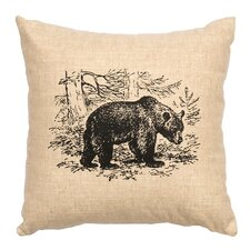 Bear Scene Throw Pillow