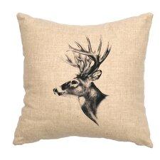 Deer Profile Throw Pillow