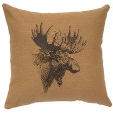 Moose Profile Throw Pillow
