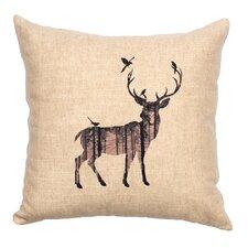 Deer Shadow Throw Pillow