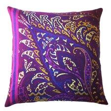Fiore Vintage Prints Exploded Paisley Silk Throw Pillow