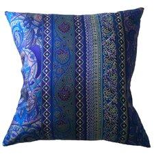 Fiore Vintage Prints Floral Stripe Silk Throw Pillow