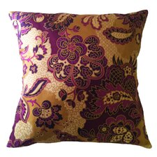 Fiore Vintage Prints Repeat Floral Silk Throw Pillow
