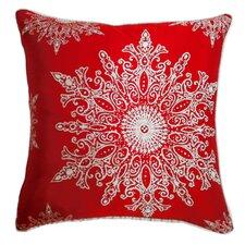 Holiday Elegance Snowflake II Silk Throw Pillow