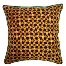 Holiday Elegance Candy Corn Silk Throw Pillow