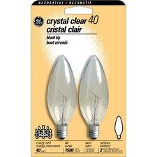 40W 120-Volt (2500K) Light Bulb (Pack of 2)