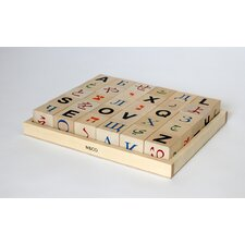 Global Alphabet Letter Block
