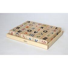 Global Alphabet Letter Block