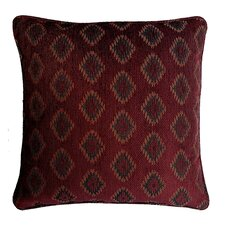 Diamond Jacquard Cotton Throw Pillow