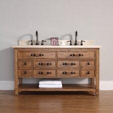"""Malibu 60"""" Double Bathroom Vanity Set"""