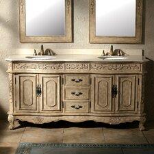"""Classico 72"""" Double Bathroom Vanity Set"""