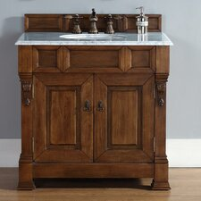 "Brookfield 36"" Single Country Oak Bathroom Vanity Set"