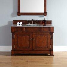 "Brookfield 48"" Single Warm Cherry Bathroom Vanity Set"