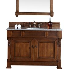 "Brookfield 48"" Single Country Oak Bathroom Vanity Set"