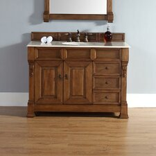 "Brookfield 48"" Single Country Oak Bathroom Vanity Set with Drawers"
