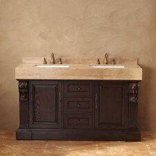 "Toscano 60"" Double Bathroom Vanity Set"
