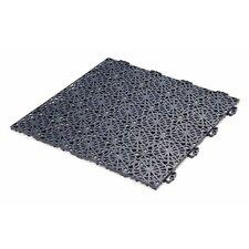 "Bergo XL Polypropylene 14.85"" x 14.85"" Interlocking Deck Tiles in Gray (Set of 14)"