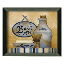 """Bath"" by Linda Spivey Framed Graphic Art"