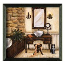 Fireplace Escape I Framed Painting Print