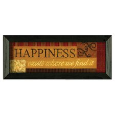 Happiness by Becca Barton Framed Graphic Art