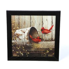'Cardinals' by John Rossin Framed Photographic Print