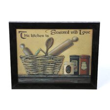 Seasoned with Love by Pam Britton Framed Graphic Art