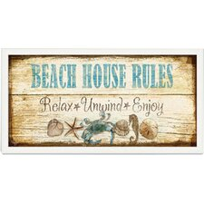 Beach House Welcome Framed Vintage Advertisement