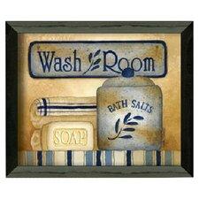 """Wash Room"" by Linda Spivey Framed Graphic Art"