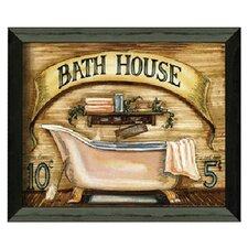 Bath House by Becca Barton Framed Graphic Art