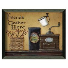 Friends Gather Here by Pam Britton Framed Painting Print