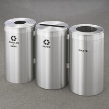 RecyclePro Value Series 45-Gal Triple Unit Multi Compartment Recycling Bin