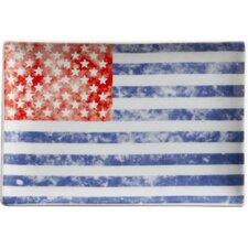 Voyage Vintage Flag Rectangular Serving Tray