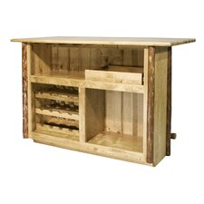 Glacier Country Bar with Wine Storage