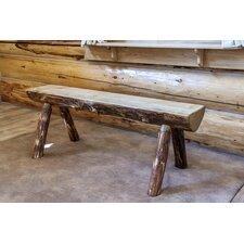 Glacier Country Half Log Bench