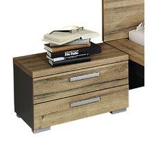 Nachttisch Davos mit 2 Schubladen