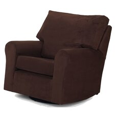 Modern Square Back Adult Glider in Chocolate