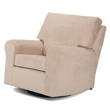 Modern Square Back Adult Glider in Beige