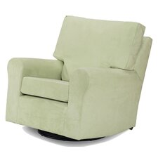 Modern Square Back Adult Glider in Lime
