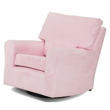 Modern Square Back Adult Glider in Pink
