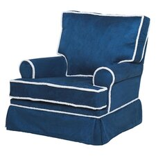 Square Back Adult Glider in Navy Blue