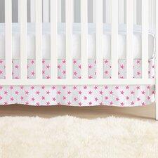 Fluro Pink Classic Crib Skirt