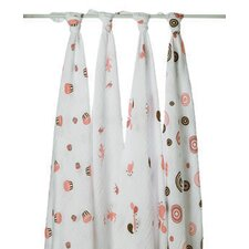 Baby Cakes 4 Piece Swaddle Blankets (Set of 4)