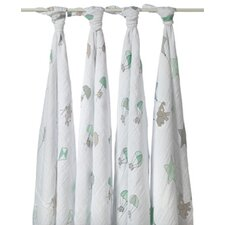 Up Up and Away 4 Piece Swaddle Blankets (Set of 4)
