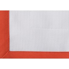 Scalloped Pique Cotton Shower Curtain
