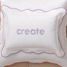 Pique Scalloped Cotton Boudoir/Breakfast Pillow