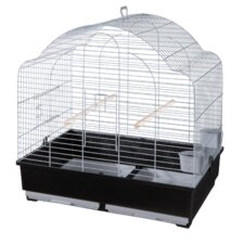 Grace Domed Top Parrakeet Cage in Grey