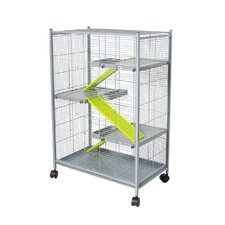 Hamster Cage in Grey and Pistacho
