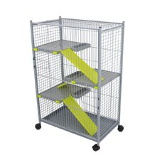 Chinchilla Cage in Grey and Pistacho