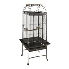 Loro Marie Play Top Aviary Case in Grey