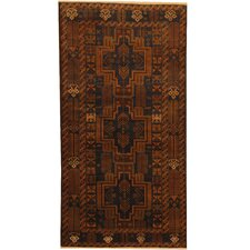 Balouchi Tribal Balouchi Hand-Knotted Navy/Gold Wool Area Rug